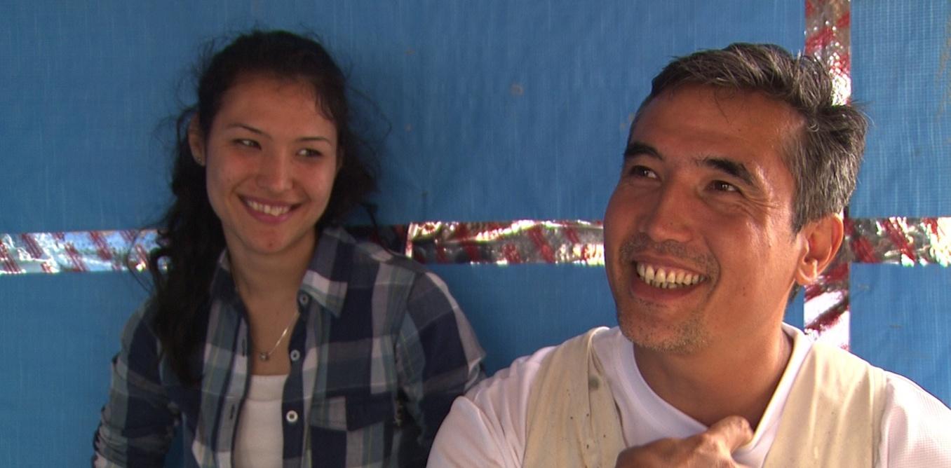 Former detention centre detainee, Shafiq Monis, and his daughter Mahidya