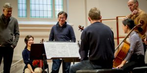 Stephen Rose, Frank Huang and Brant Taylor lead a masterclass with MCM students.