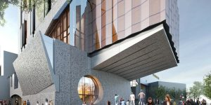 Architect's render of the Ian Potter Southbank Centre. Courtesy of John Wardle Architects.