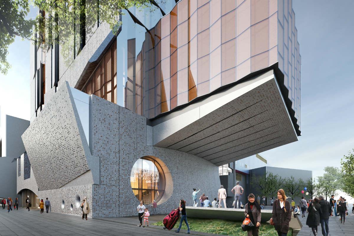 Architect's render of the Ian Potter Southbank Centre. Courtesy of John Wardle Architects.