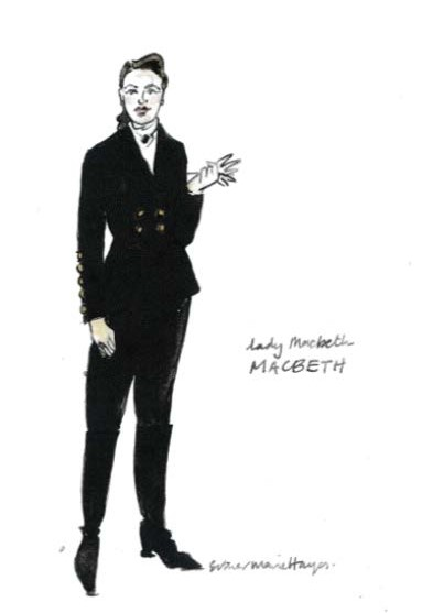 Lady Macbeth costume design by Esther Marie Hayes. Image courtesy of Melbourne Theatre Company.