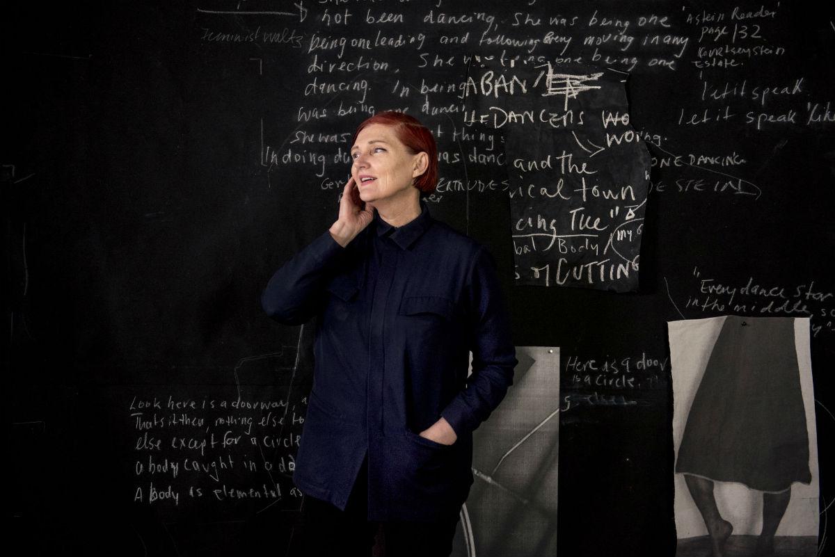 Sally Smart in her studio. Photo: Giulia McGauran.