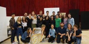 VCA Music Theatre students with the Vivid White Cast at the MTC. Image supplied.