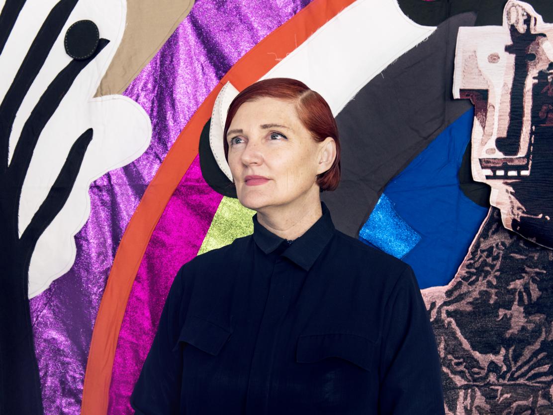 Sally Smart in her Melbourne studio. By Giulia McGauran.