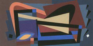 """Alun Leach-Jones, """"Music Colours"""" (2017), acrylic on board."""