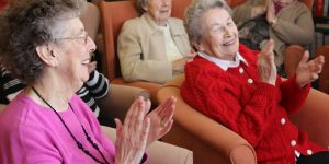 Aged care home residents singing. Photo: Bromford/Flickr CC