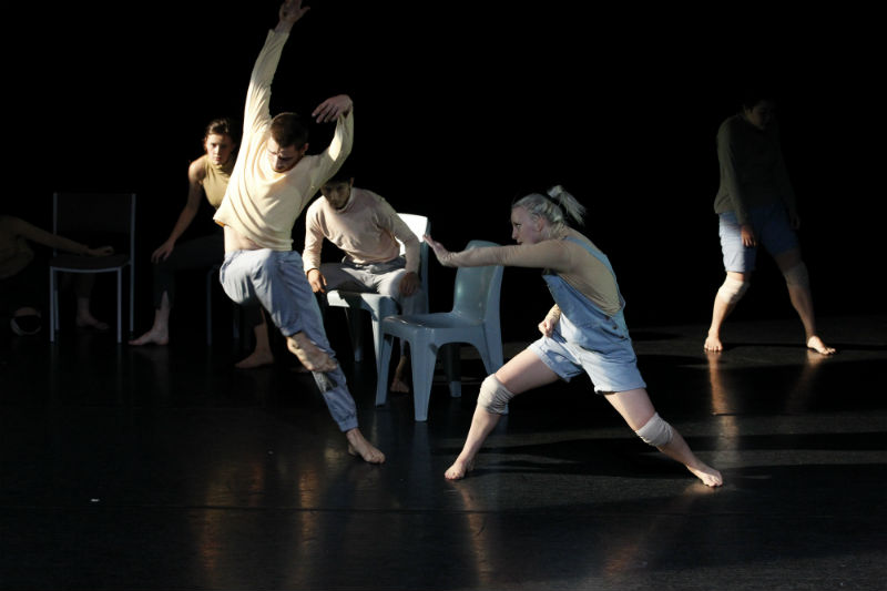 A Ceremony of Senses, 2012, by Larissa McGowan. Foreground dancers: James Batchelor and Amber McCartney. Photo by Jeff Busby.