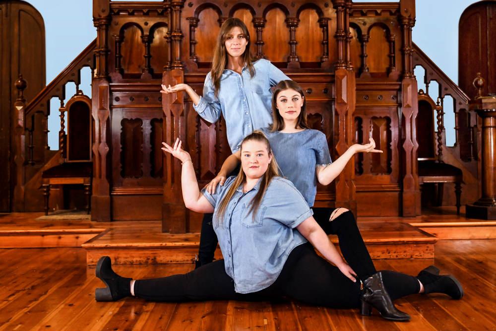 Performers Hannah Kostros, Jordan Auld, and Emily Leaver. Image by Giulia McGauran.