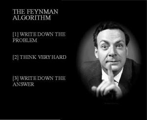 Richard Feynman by tlwmdbt via flickr. (CC BY 2.0) [Adapted]