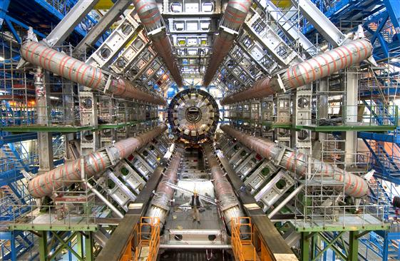 One of the detectors at the Large Hadron Collider, called ATLAS. Credit: CERN