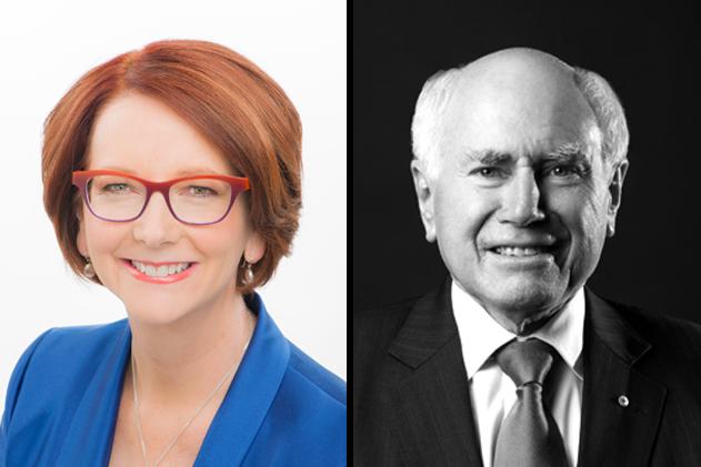 Julia Gillard and John Howard