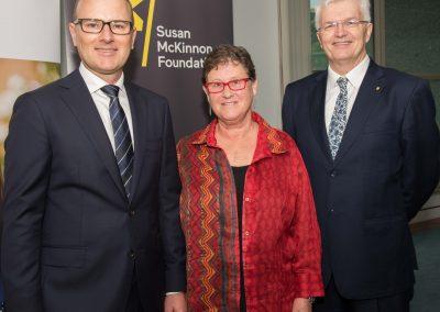 Susan McKinnon Foundation Co-Founder Grant Rule, Susan McKinnon and University of Melbourne Vice-Chancellor Glyn Davis