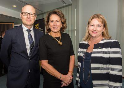 Susan McKinnon Foundation Co-Founder Grant Rule, Oxfam Australia CEO Helen Szoke and Rebekha Sharkie MP