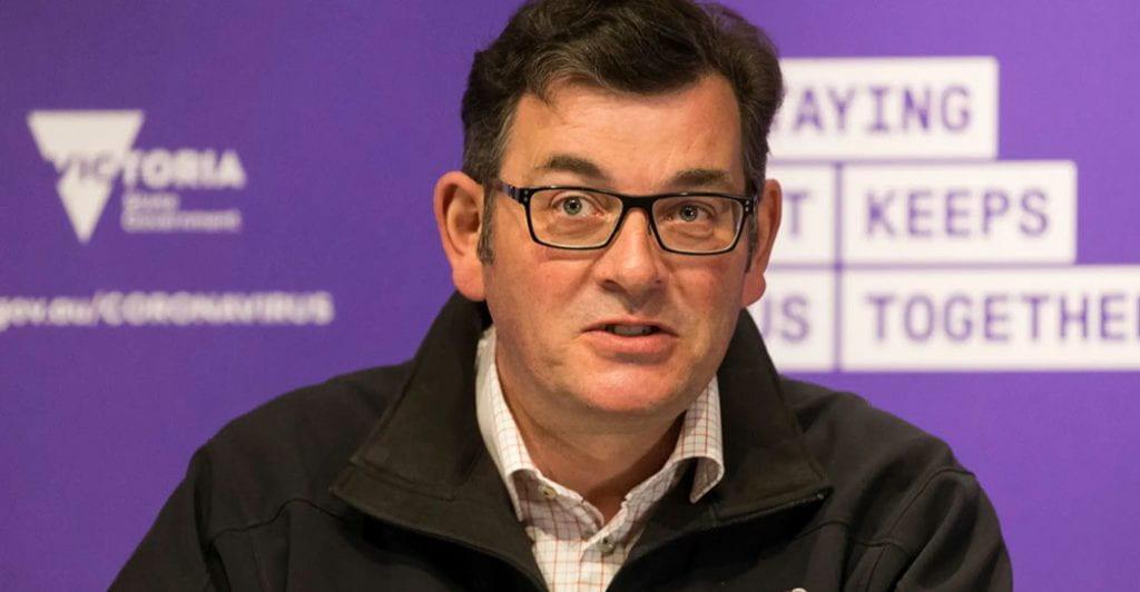 Daniel Andrews at a recent press conference
