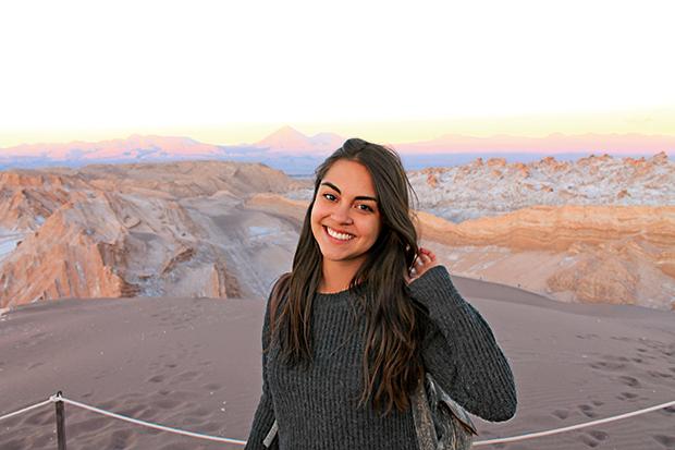 Arts student Gabriela Brand spent 2013 studying at the Pontifical Catholic University, Chile.