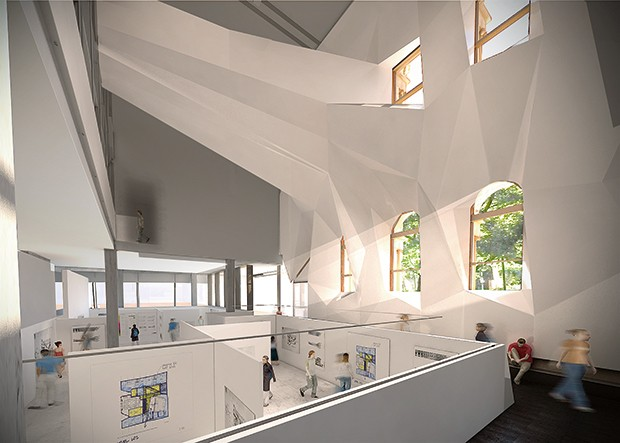 Render of the Dulux Gallery in ABP's new building.