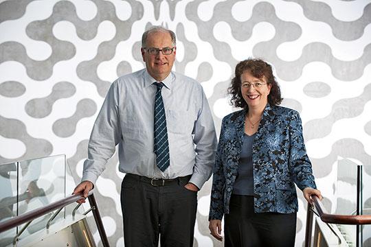 Leading the way: Professor Sam Berkovic and Professor Ingrid Scheffer.