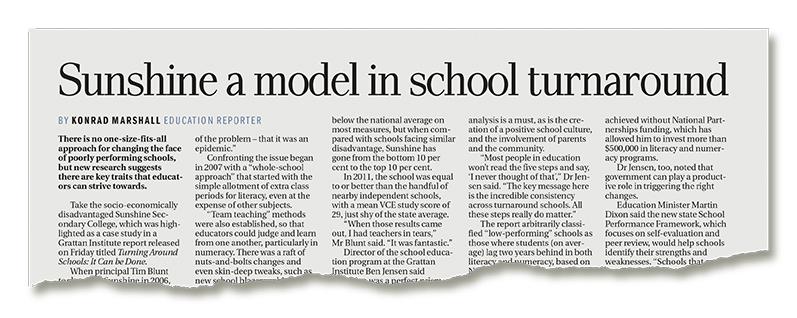 Sunshien a model in school turnaround