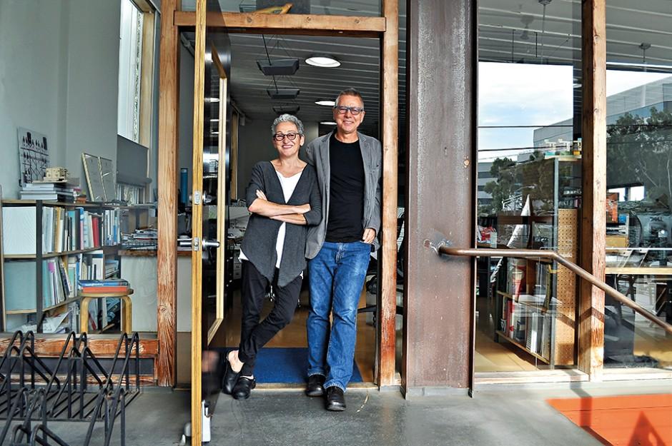 Julie Eizenberg and Hank Koning at their studio in Santa Monica.