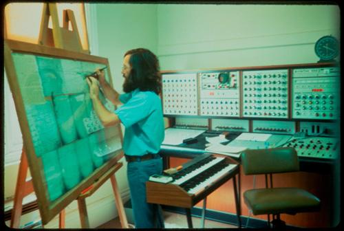 Leslie Craythorn at work in 1975