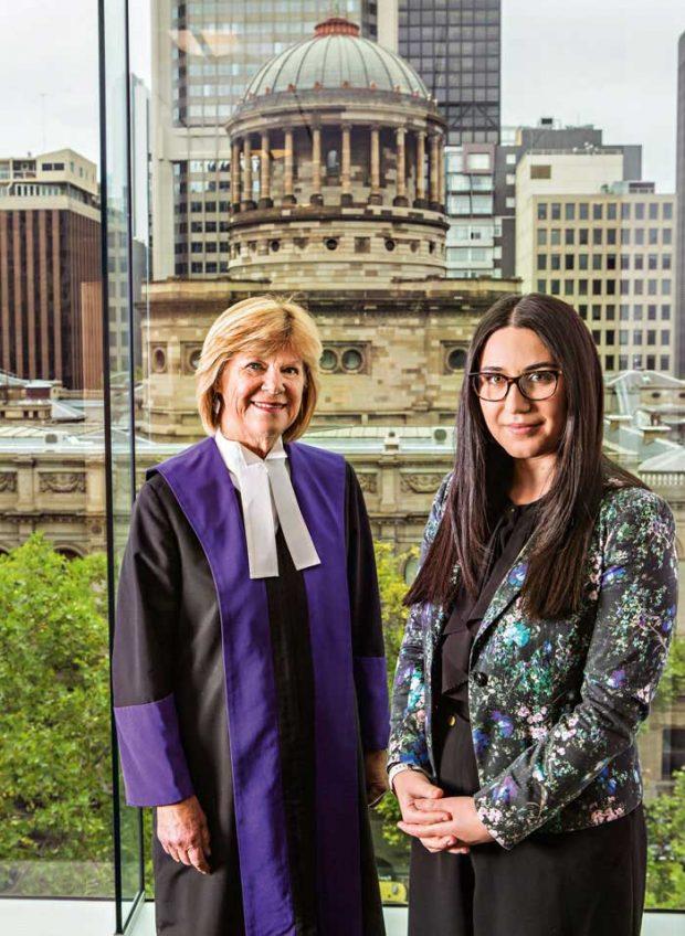 Judge Wendy Wilmoth and Pinar Tat