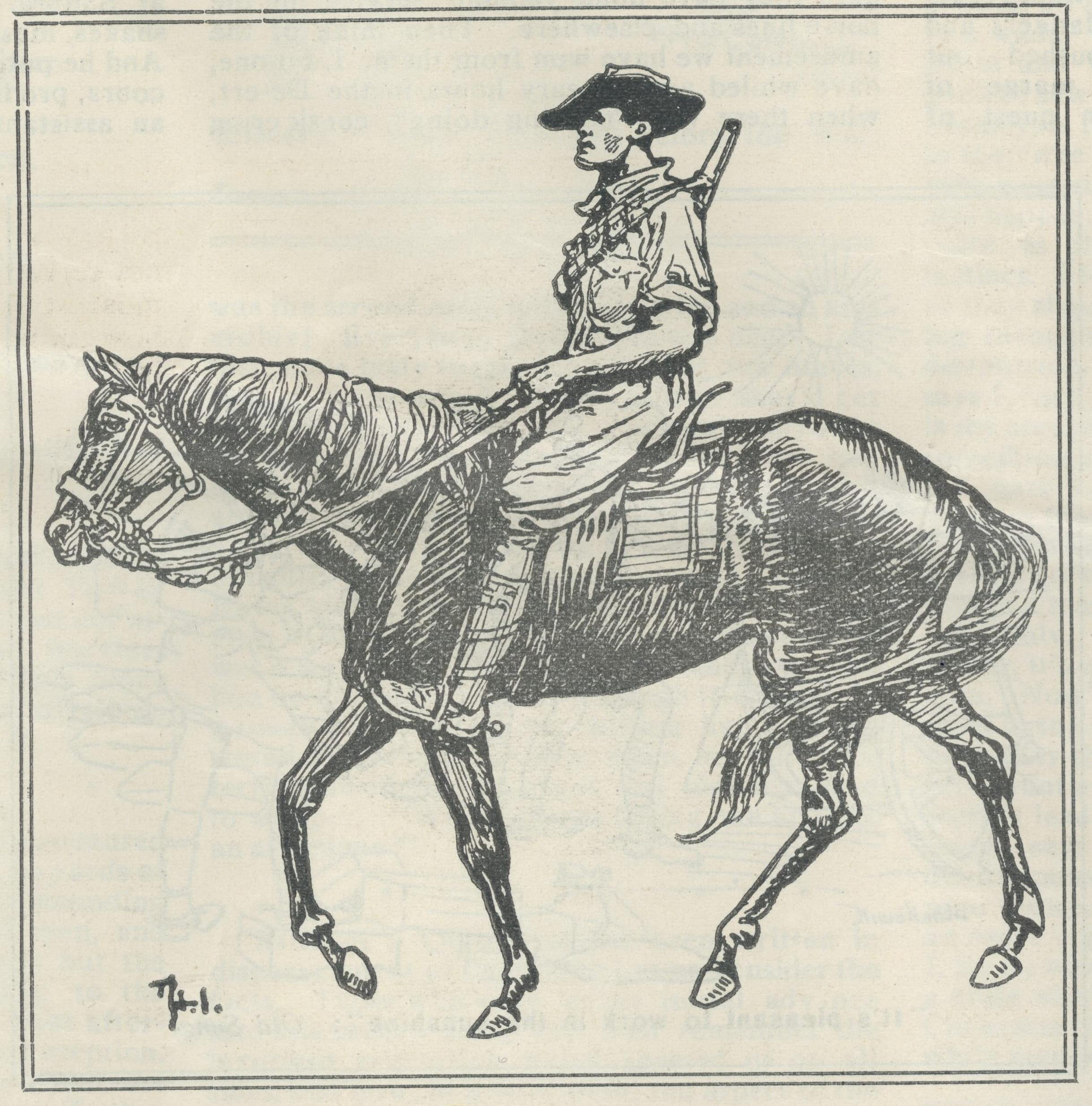 Sketch of a Light Horseman
