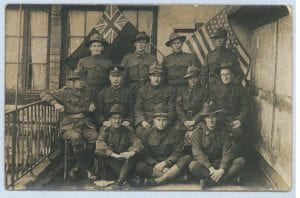Group of Australian and American soldiers, c1916