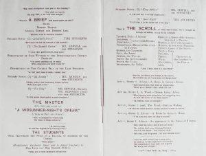 Foundation Day Programme 1901 Program p.1-2