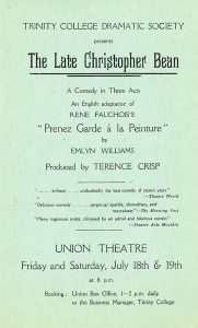 The Late Christopher Bean 1941 Flyer