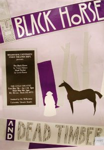 The Black Horse; Dead Timber 1985 Poster