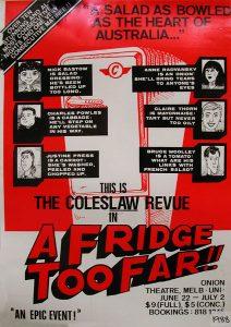 A Fridge Too Far 1988 Poster