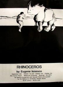 Rhinoceros 1988 Poster