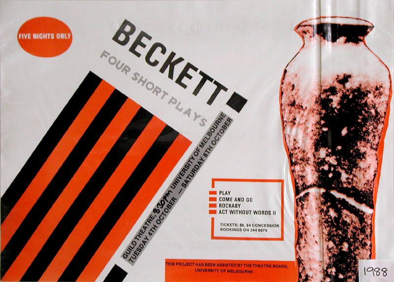 A Selection of Short Beckett Plays: Come and Go; Rockaby; Act Without Words II; Play 1988 Poster