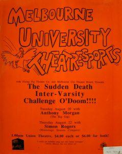 Theatre Sports: The sudden death Intervarsity challenge 1991 Poster