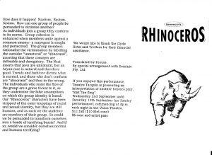 Rhinoceros Program #1