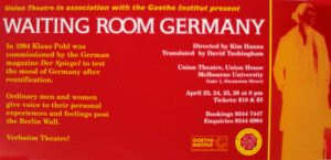 Waiting Room Germany 1997 Poster