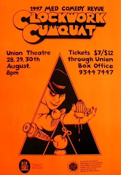 A Clockwork Cumquat Medical Revue 1997 Poster