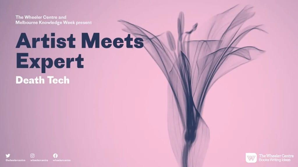 Promotional image for Artist Meets Expert Death Tech event