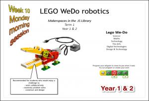 Lego Robotics session Yr 1 &  2