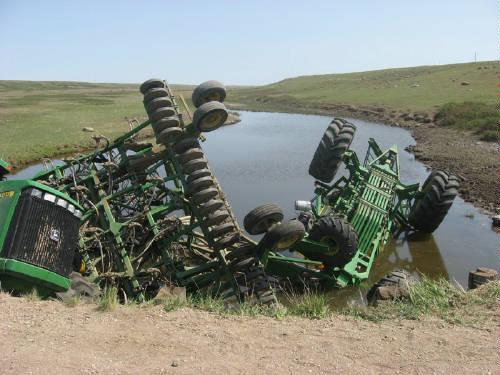 John Deere Tractor Crash 2