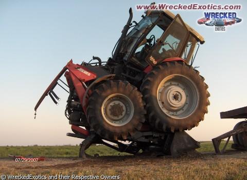 tractor on bucket