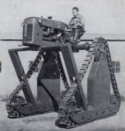 tractor on stilts