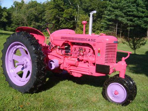 Pink 1944 Case Tractor