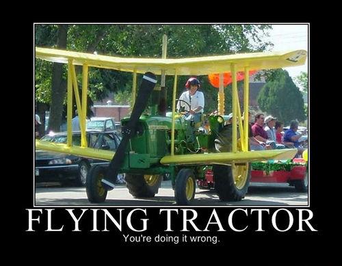 Flying John Deere Tractor