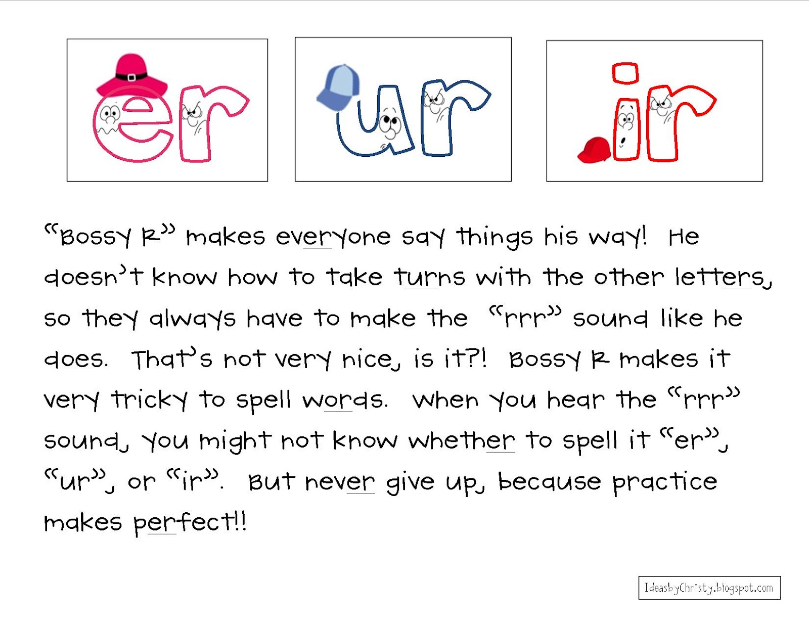 Spelling Pattern Custom Ideas