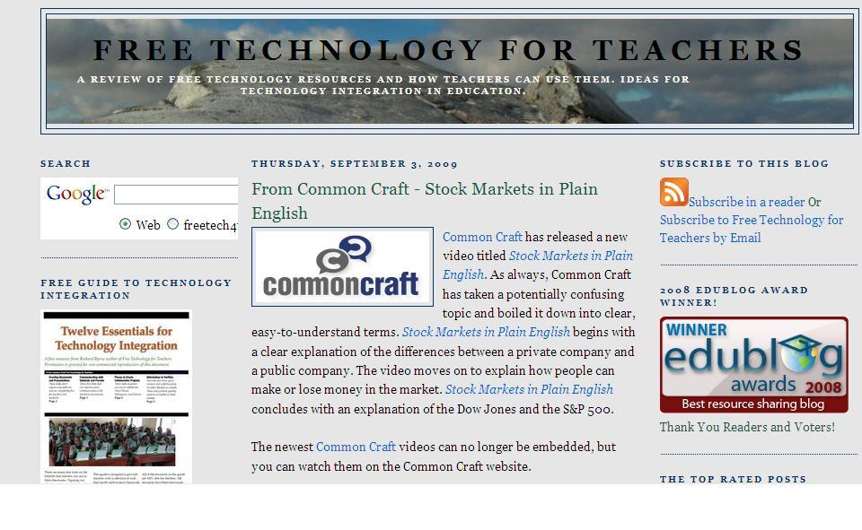 Free Tech for Teachers