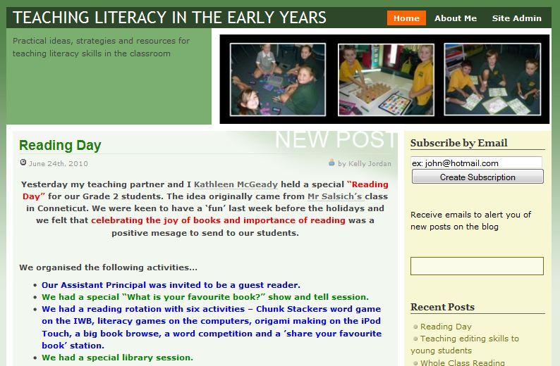 Teaching lit in early years