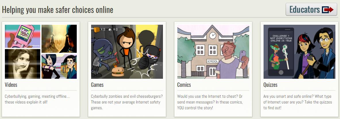 Screenshot of NSTeens website