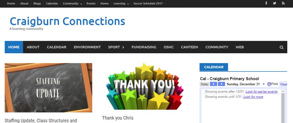 Craigburn Connections school screenshot
