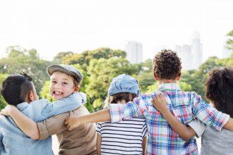 Children hugging   Comments for kids still count   Kathleen Morris